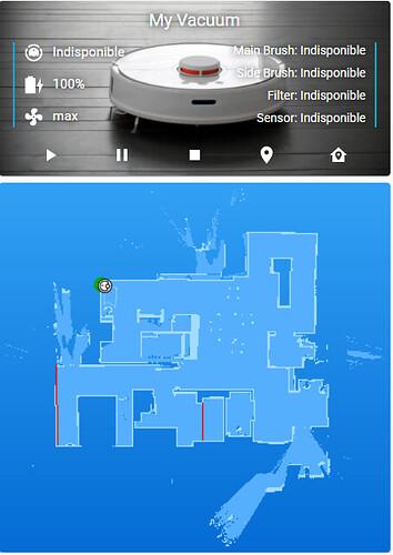 Etat robot aspirateur