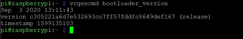 Version BootLoader